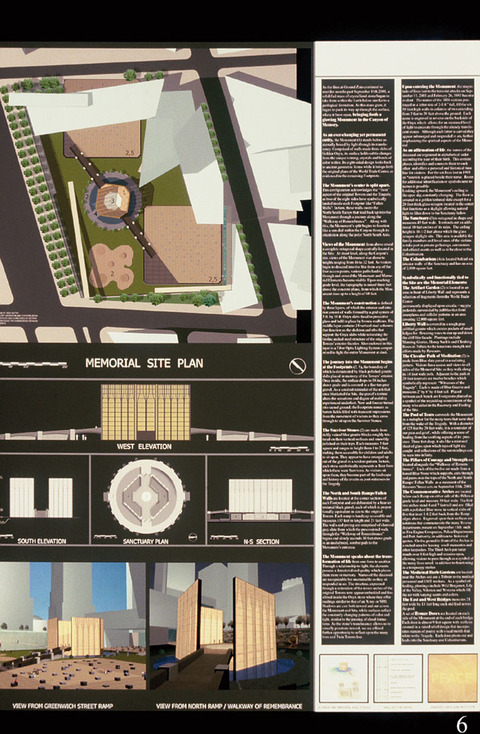 Marcia Cooper WTC Memorial, Drawing, LMCC Proposal, 2003 Onyx, bluestone, sand, pebbles, LED lighting, concrete
