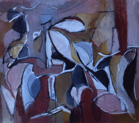 Marcia Cooper ON PAPER oil and charcoal on wall paper