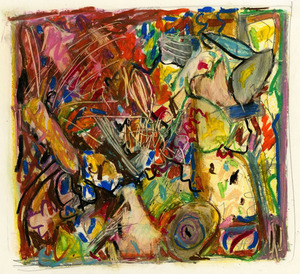 Marcia Cooper ON PAPER Oil crayon and pencil