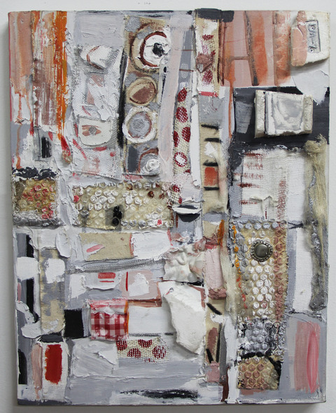 Marcia Cooper EARLY WORKS Mixed media with metal, plastic, fabric and paints