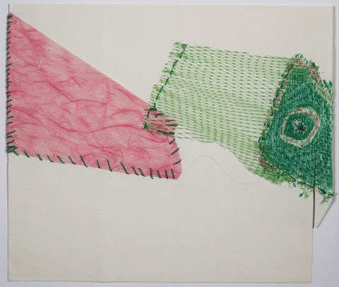 Marcia Cooper THREADS Mixed Media with netting and thread