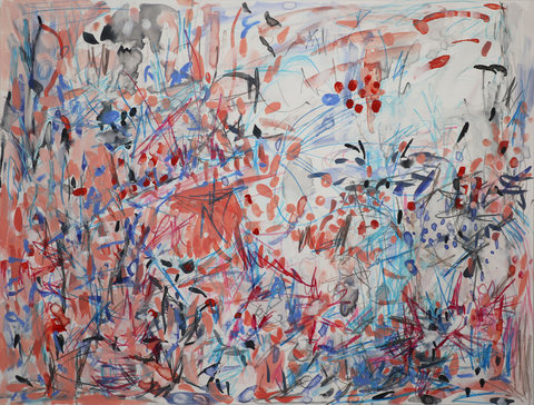 LAND SHIFTS Gouache and pencil on Yupo