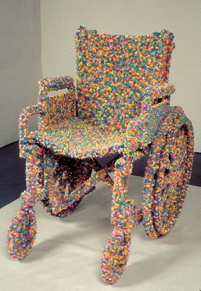 HEATHER COX Sculpture Archive 1994-1999 frosting covered wheelchair