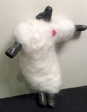 Sandra Maresca Spirit Totems polymer clay and needlefelted wool