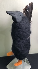 Sandra Maresca Spirit Totems polymer clay,needlefelted wool,raven feather