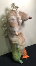 Sandra Maresca Spirit Totems polymer clay, turkey bone, cat fur, wool