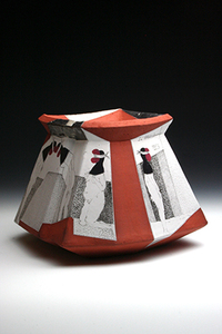 Curtis Stewardson Echoes of de Chirico Earthenware