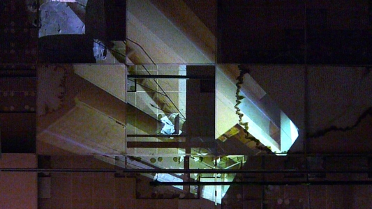 Cybele Lyle Untitled (Bat) at The Lab Site-based video projection