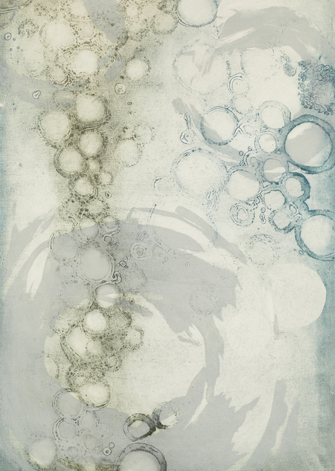 Cynthia MacCollum String Theory Collagraph Monoprint