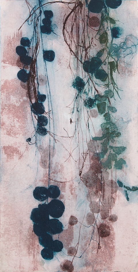 Cynthia MacCollum String Theory Collagrpah Monoprint