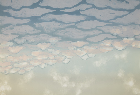 Cynthia MacCollum Clouds Collagraph Monoprint