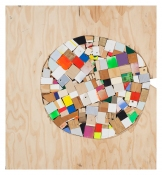 Damien Hoar de Galvan painting 2008-2012 scrap wood, various paint, glue