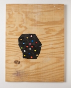 Damien Hoar de Galvan painting 2008-2012 oil, acrylic, spray paint on plywood