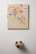 Damien Hoar de Galvan painting 2008-2012 spray paint, latex, wood, shelf