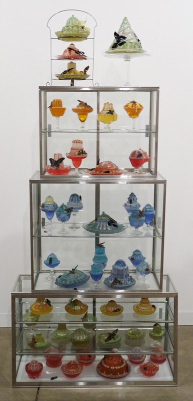 Dana Sherwood Confectionery Marvels, 2006 - ongoing Stainless steel, glass, resin, plaster, insects