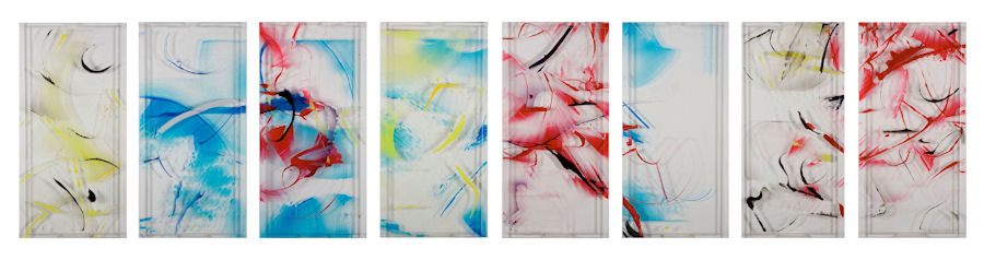 DANIELLE FRANKENTHAL Tone Poem Series Acrylic paint on Acrylite®.