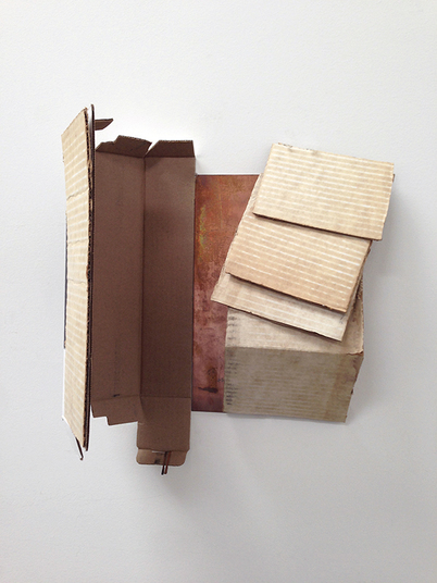 sculpture cardboard and copper