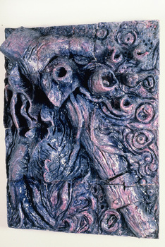DANIEL ROSENBAUM RELIEF SCULPTURE ceramic