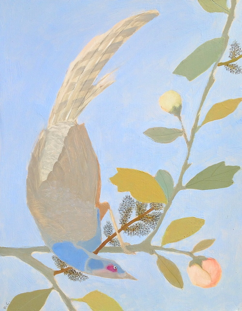 Daphne Chapin floral  oil on wood panel
