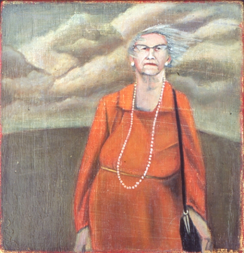 DAPHNE CONFAR 1990s oil on wood block