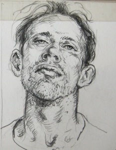 "David Barnes 5'5"" Character File Pencil on Paper"