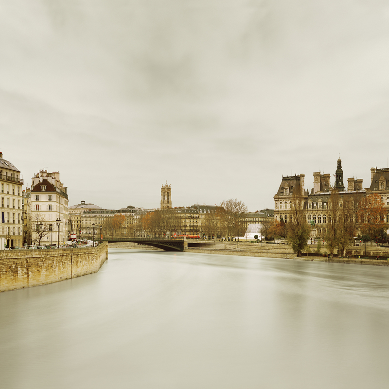 EUROPE River Seine from Ponte de Sully, Paris, France, 2012