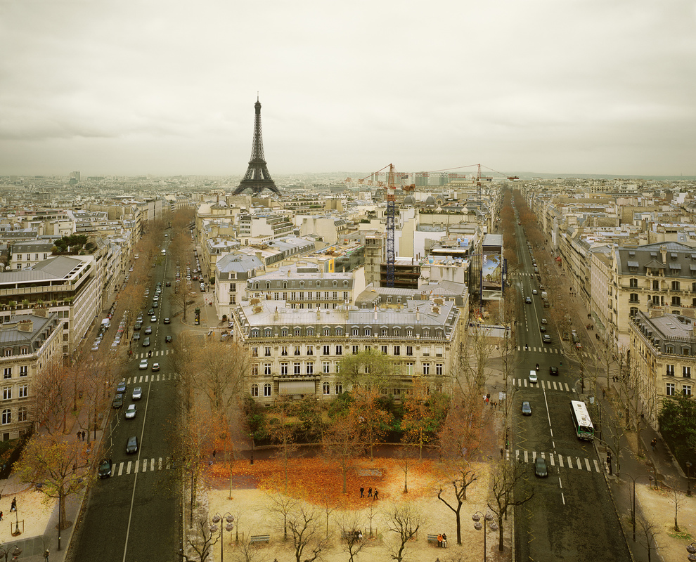 EUROPE Paris from the Arc de Triumph, Paris, France, 2010
