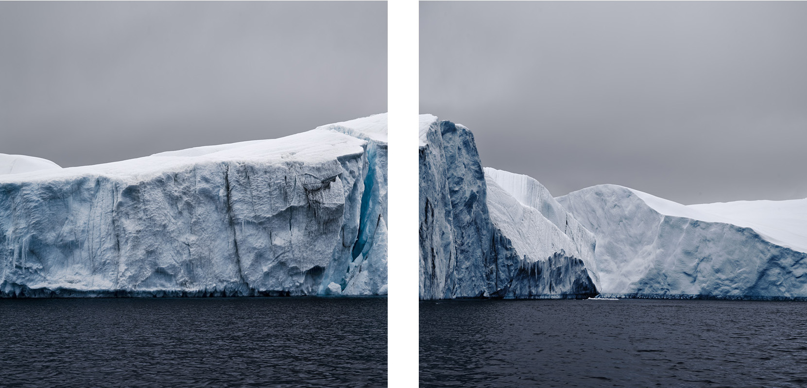 NORTH/SOUTH Melting Iceberg, Antarctica, 2007 (diptych)