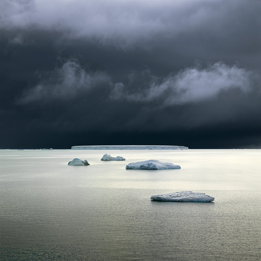 NORTH/SOUTH Five Icebergs, Weddell Sea, Antarctica, 2007