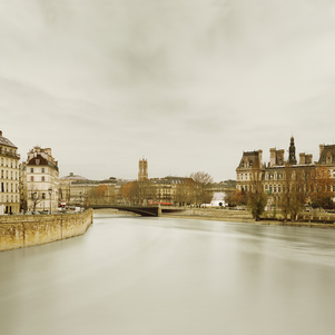 River Seine from Ponte de Sully, Paris, France, 2012
