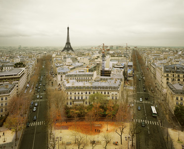 Paris from the Arc de Triumph, Paris, France, 2010
