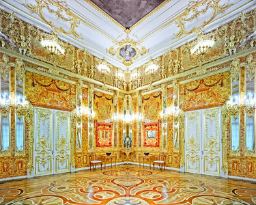 Amber Room, Catherine Palace, Pushkin, Russia, 2015