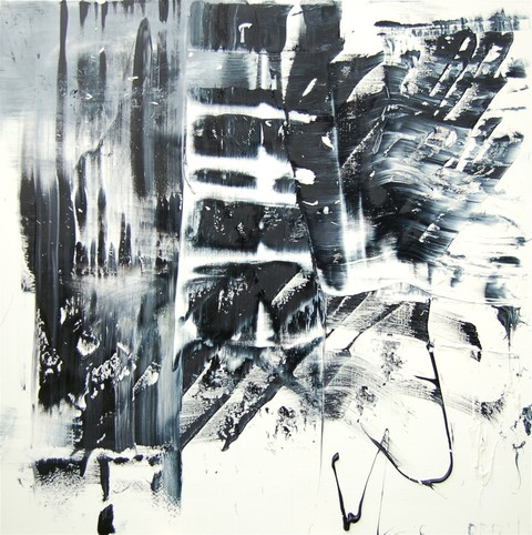 Artist David A. French : Paintings and Works on Paper Monochrome Paintings oil on herringbone twill linen