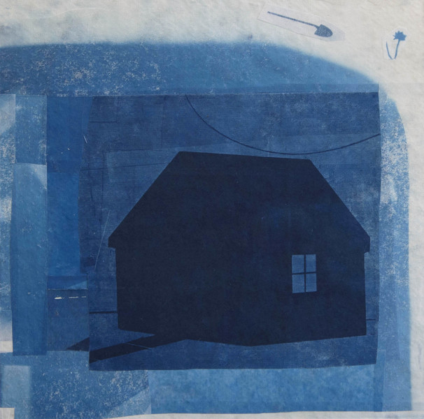 Cyanotype Collage 2018 The Heart Is Not A Home