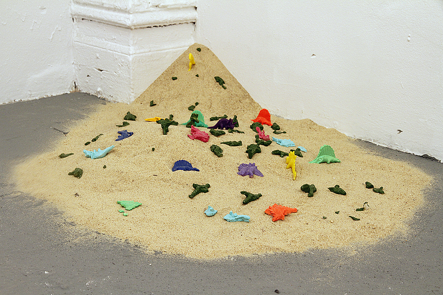 David Jacobs Sculptures sand, plaster, spray paint