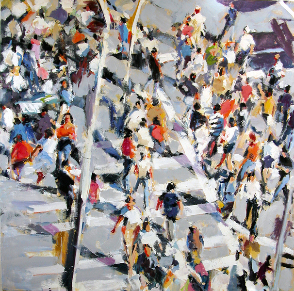 Paintings Square Crowd II