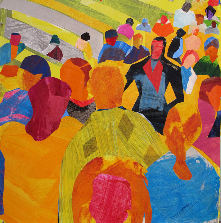 Works on Paper Fifth Avenue Crowd