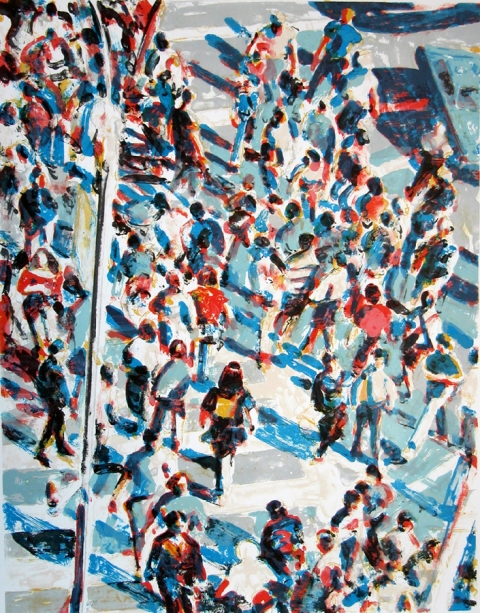 Prints Vertical Crowd