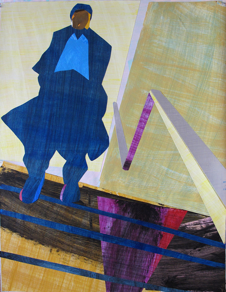 David Kapp Works on Paper Collage and Mixed Media on Paper