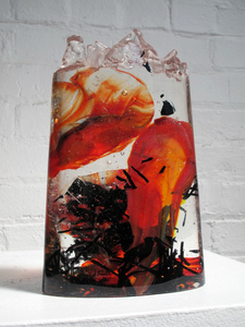 David Ruth Cast Glass Sculpture Inave Glass