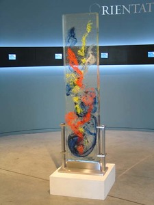 David Ruth Cast Glass Sculpture Hiva