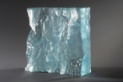 David Ruth Cast Glass Sculpture Ice Fragments