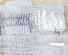 D A V I D  H A N N A H exploration oil, casein, pencil, on newspaper
