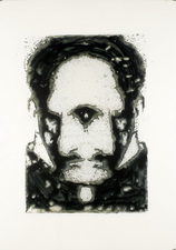 D A V I D  H A N N A H heidegger/heisenberg ink, silicone, on plastic layers