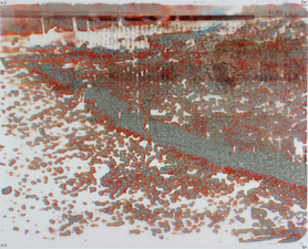 D A V I D  H A N N A H demo cities inkjet, ink, collage on plastic
