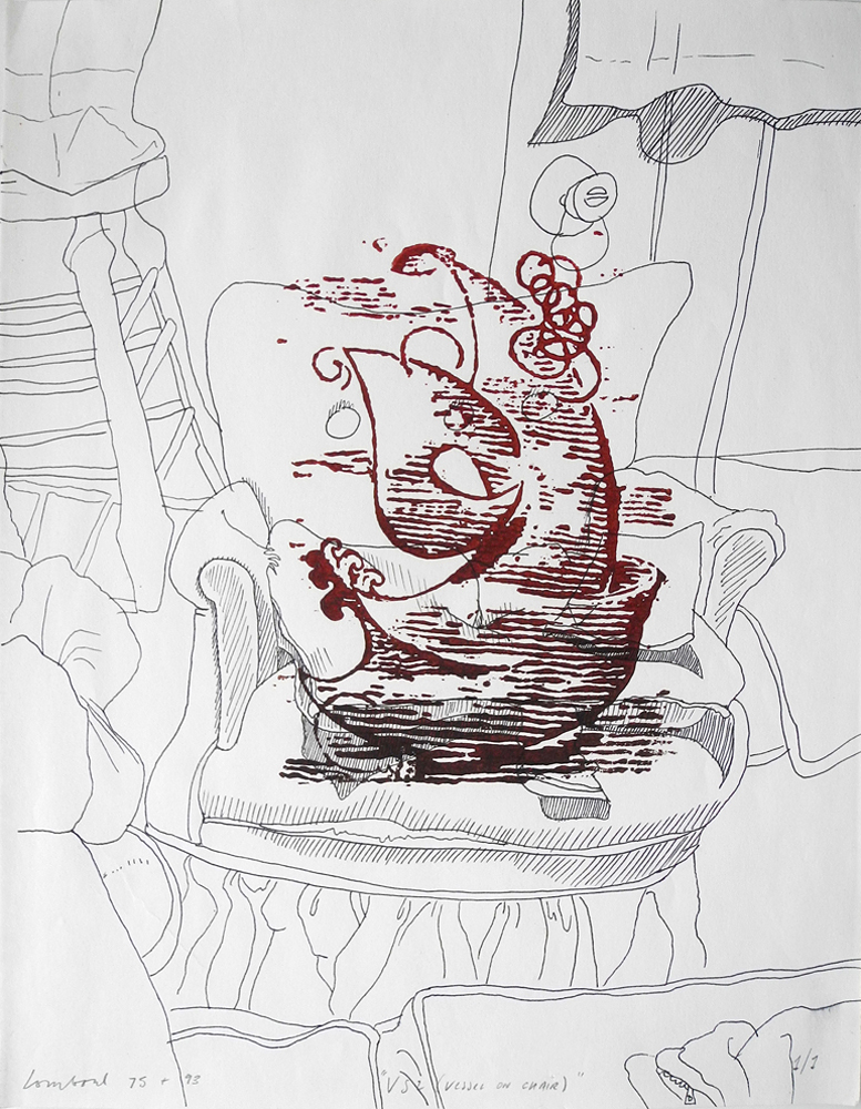 Vessel Series 1993-1994 (images) V.S. 2 (vessel on chair)