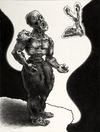 Post Apocalyptic Tattoo World  1998-2008 (images) charcoal on acide free board