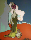 Post Apocalyptic Tattoo World  1998-2008 (images) acrylic on Plexiglas (reverse painted)