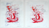 Vessel Series 1993-1994  lino cut on marker and pencil drawings (diptych) (edition of 1)
