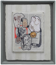 D. Dominick Lombardi - Fine Artist - Writer - Curator Saints, Sinners and the Collective Unconscious (2014-2017) (images) acrylic paint, acrylic medium, ink on paper, vintage magazine page, Plexiglas, screws, nails, salvaged sheetrock, latex primer, wallpaper paste, wallpaper, artist's frame, salvaged wood, nails, screws, plaster, joint compound, latex primer, latex paint